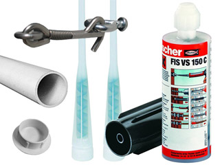 Barriere Beethoven - Kit pose Beethoven STANDARD Ø30mm avec tube PVC 100cm + epoxy + cache + loquet