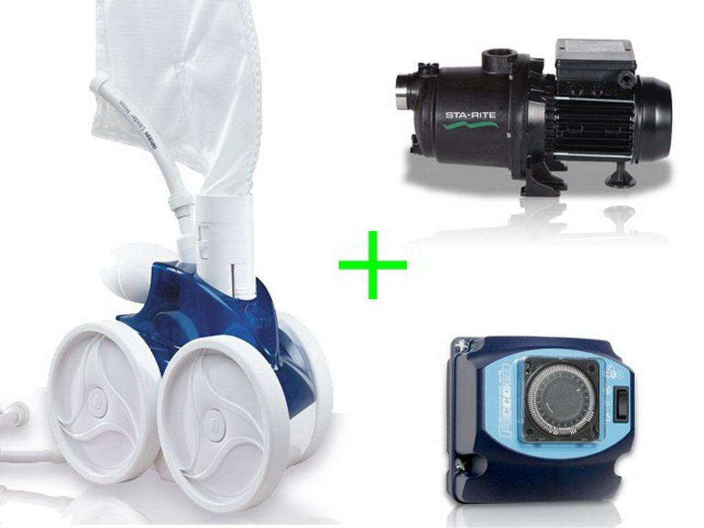 robot piscine hydraulique polaris 380 pack avec surpresseur 1cv mono et coffret sur. Black Bedroom Furniture Sets. Home Design Ideas
