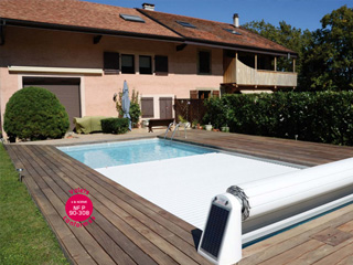 Abriblue - Volet automatique de securite Abriblue OPEN SOLAR ENERGY piscine enterree