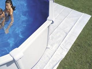 Tapis de sol nylon renforc microbulles piscine hors sol ronde sur march - Tapis de sol pour piscine ronde ...