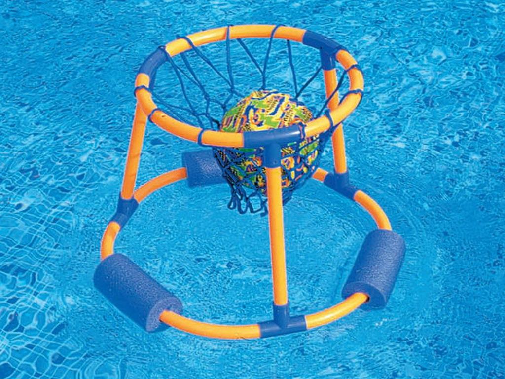 Jeu de basket ball flottant luxe splash ball avec ballon for Panier de basket pour piscine