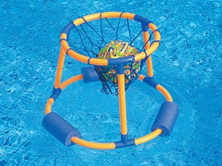 Jeu de basket ball flottant luxe splash ball avec ballon for Plateau piscine flottant