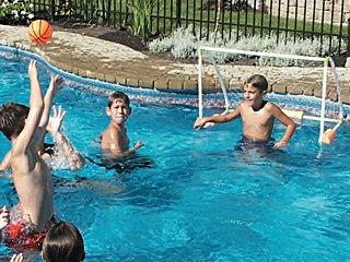 Hand ball flottant avec ballon gonflable pour piscine sur for Chauffage piscine flottant