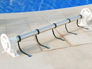 Enrouleur alba roller couverture piscine hors sol sur for Volant enrouleur bache piscine