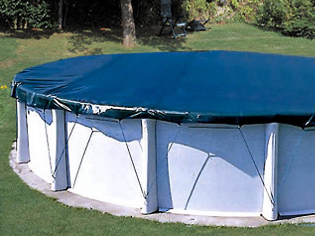 Couverture protection et hivernage filet COVERLUX 9 x 9cm pour piscine  hors-sol ovale 9 x 9cm
