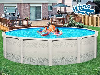 kit piscine hors sol acier r sine flamenco luxe ronde 4. Black Bedroom Furniture Sets. Home Design Ideas