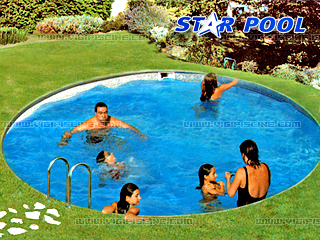 piscine enterr e acier star pool top ronde x sur march. Black Bedroom Furniture Sets. Home Design Ideas