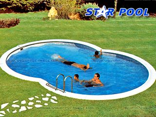 Kit piscine enterr e acier star pool elite en huit x for Piscine en kit enterree