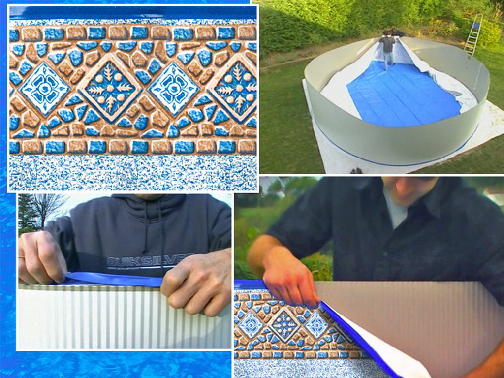 Liner imprim avec frise starpool 50 100eme piscine hors for Liner pour piscine en huit