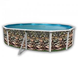 Achat piscine hors sol acier d cor e ovale mat riel for Piscine hors sol 1 50 hauteur