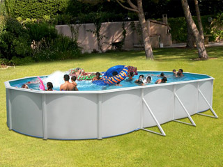 Piscine hors sol en acier le march de la piscine for Liner piscine hors sol 9 15 x4 60