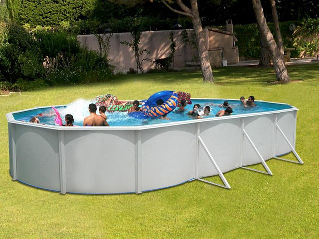 Kit piscine hors sol acier toi mallorca ovalada pack ovale for Piscine hors sol acier ovale