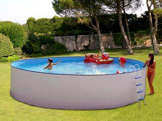 Piscine hors sol en acier le march de la piscine for Piscine hors sol ronde acier