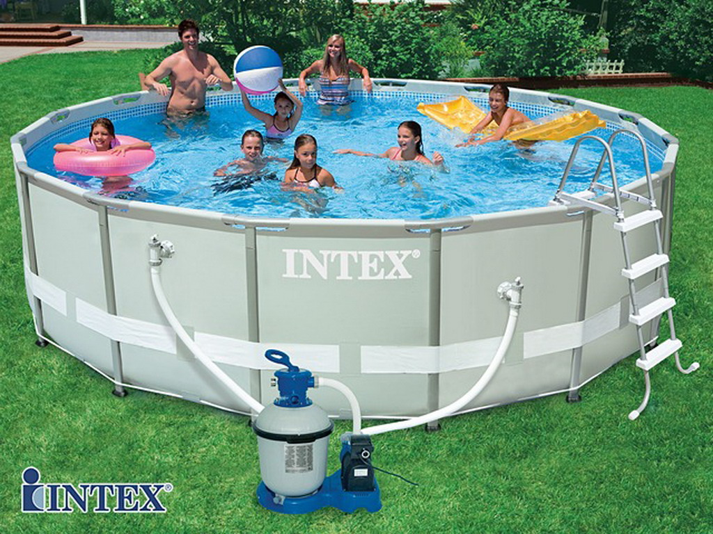 Kit piscine tubulaire intex ultra frame ronde 488 x 122cm for Enrouleur bache piscine hors sol tubulaire intex