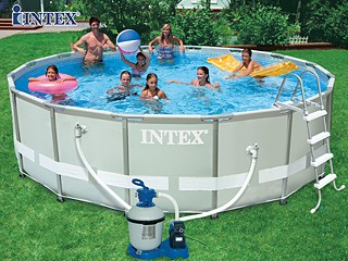 Kit piscine tubulaire intex ultra frame ronde 488 x 122cm for Piscine intex ultra frame 4 88x1 22