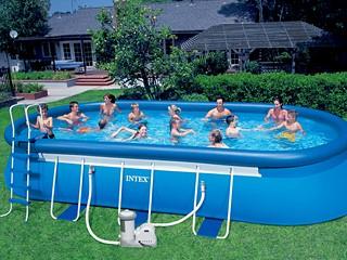 Kit piscine hors sol autoportante intex ellipse ovale - Piscine hors sol rectangulaire intex ...