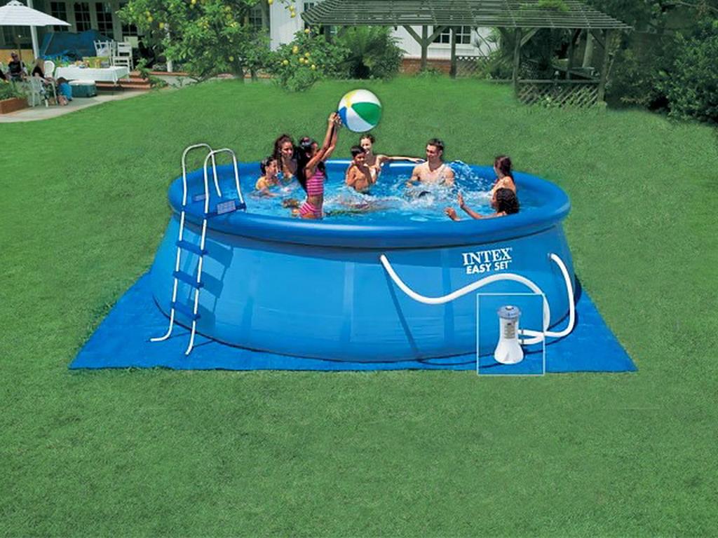 kit piscine hors sol autoportante intex easy set ronde 488m x 122cm avec filtration d bit. Black Bedroom Furniture Sets. Home Design Ideas