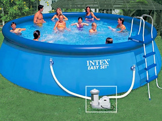 kit piscine hors sol autoportante intex easy set ronde x sur march. Black Bedroom Furniture Sets. Home Design Ideas