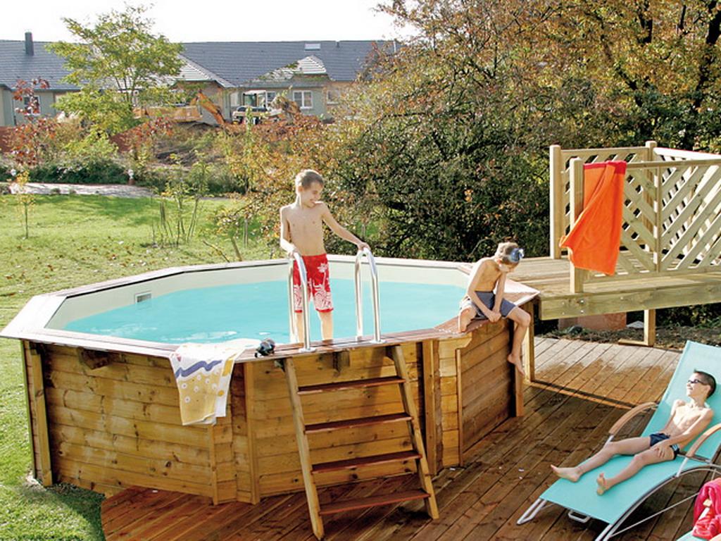 Kit piscine hors sol bois universo bois caraibes premium for Piscine ronde hors sol bois
