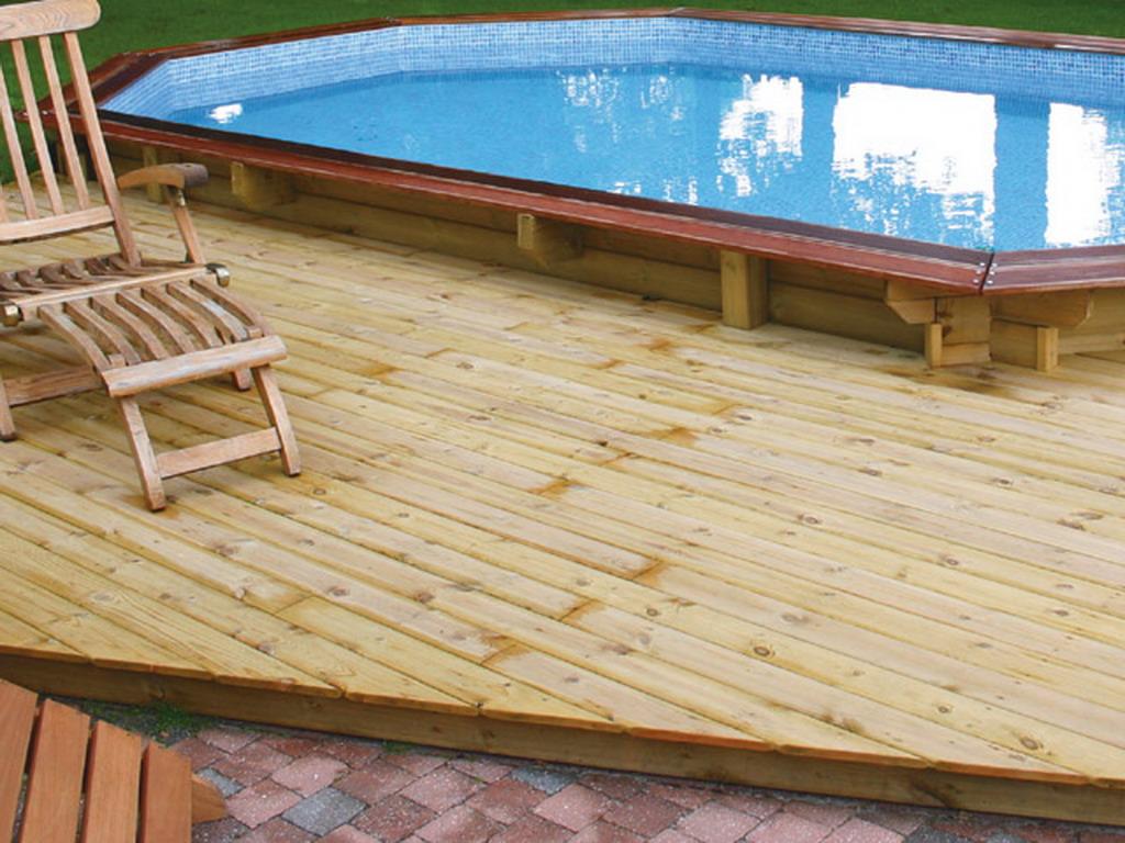 kit terrasse 20m en bois d 39 pic a pour piscines hors sol universo bois sur march. Black Bedroom Furniture Sets. Home Design Ideas