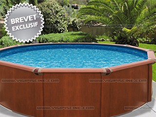 Piscine acier imitation bois avis for Piscine hors sol sequoia spirit intex