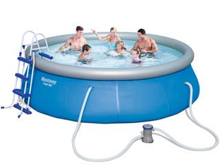 Kit piscine hors sol bestway fast set pool ronde 366 x for Piscine hors sol ronde bestway