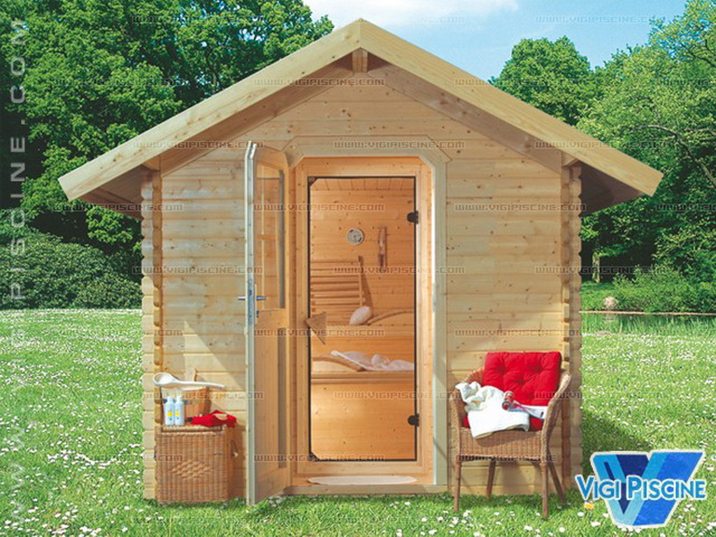 sauna ext rieur boras 350 x 318 x 264cm bois massif 40mm avec po le 8kw sur march. Black Bedroom Furniture Sets. Home Design Ideas