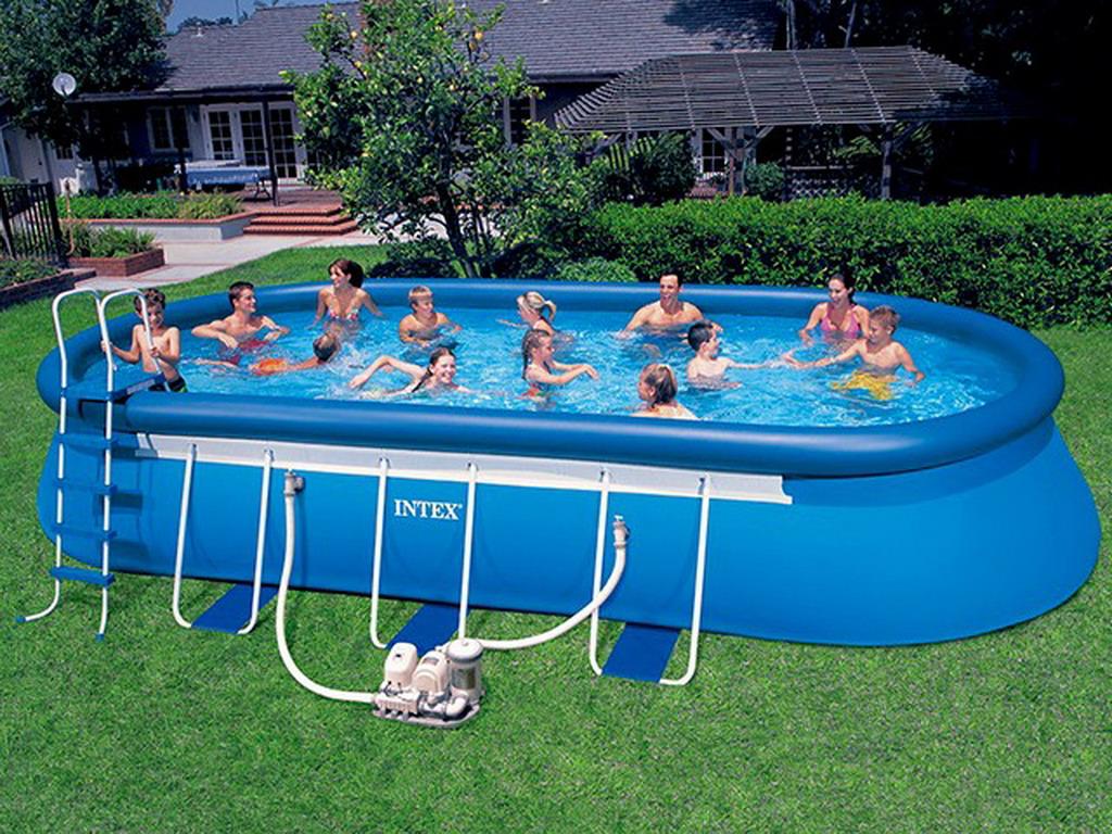 kit piscine hors sol autoportante intex ellipse ovale x x sur march. Black Bedroom Furniture Sets. Home Design Ideas