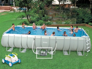 kit piscine hors sol tubulaire intex ultra silver elite x x avec robot nemo jet. Black Bedroom Furniture Sets. Home Design Ideas