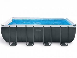 Intex - Kit piscine tubulaire Intex ULTRA SILVER rectangulaire 549 x 274 x 132cm filtration sable