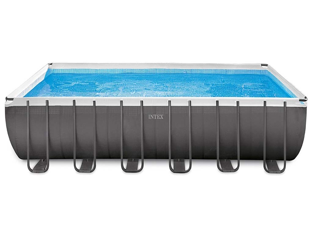 Kit piscine tubulaire intex ultra silver rectangulaire 732 - Piscine rectangulaire hors sol intex ...