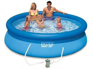 Kit piscine hors sol autoportante intex easy set ronde for Chauffage piscine 25m3