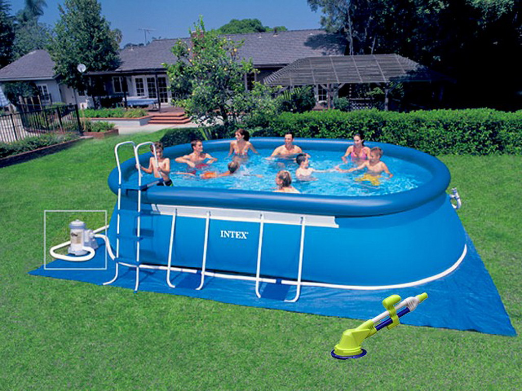 kit piscine hors sol autoportante intex ellipse ovale. Black Bedroom Furniture Sets. Home Design Ideas