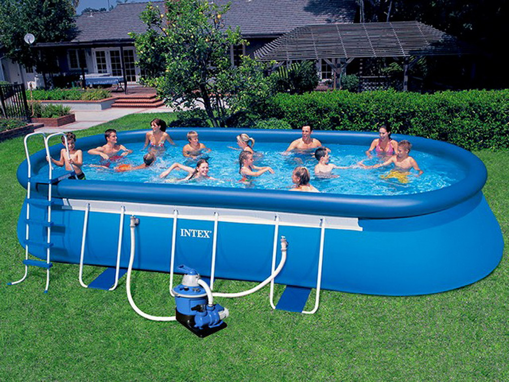 Kit piscine hors sol autoportante intex ellipse ovale - Filtration piscine hors sol intex ...