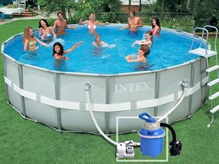 piscine tubulaire ultra frame intex ø 4.88 x 1.22 m