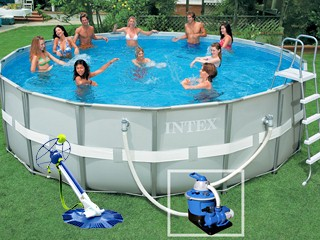 Branchement pompe a sable piscine intex for Robot pour piscine intex