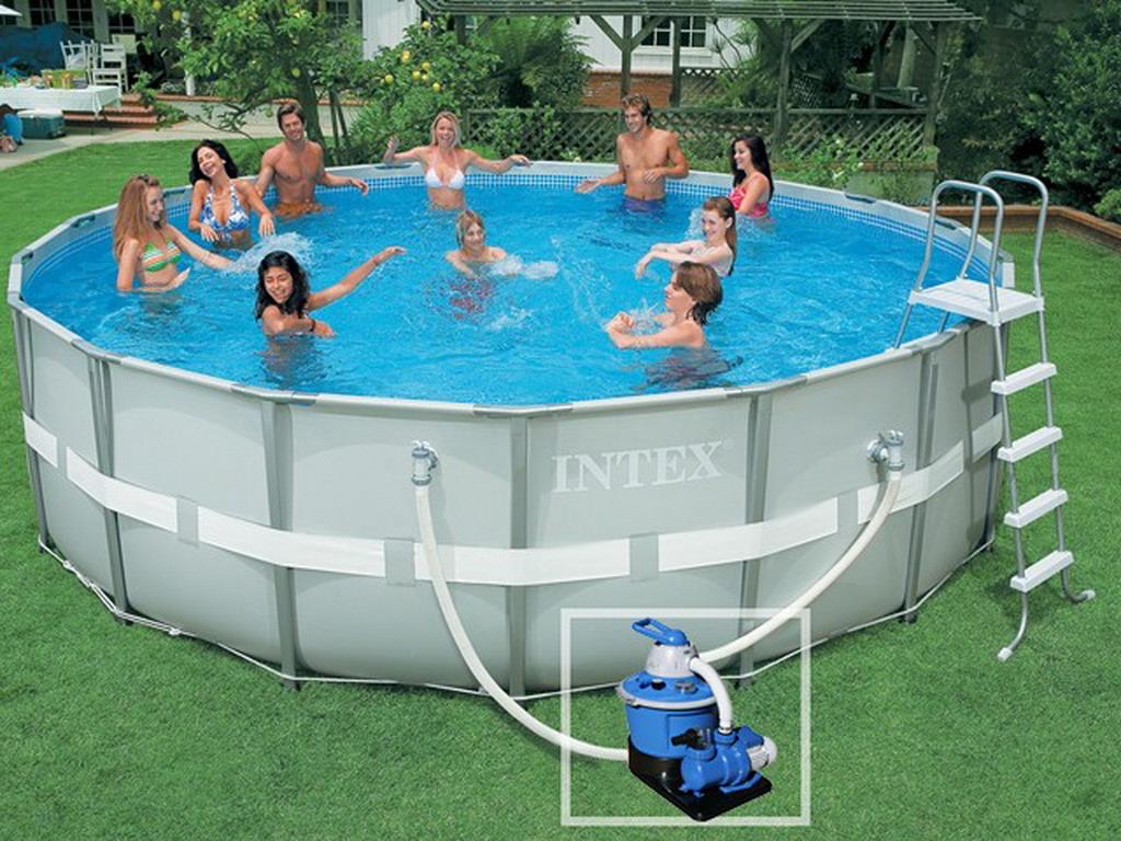 kit piscine hors sol tubulaire intex ultra frame ronde 5. Black Bedroom Furniture Sets. Home Design Ideas