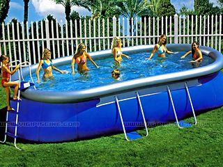 kit piscine hors sol autoportante bestway ellipse luxe ovale x sur. Black Bedroom Furniture Sets. Home Design Ideas