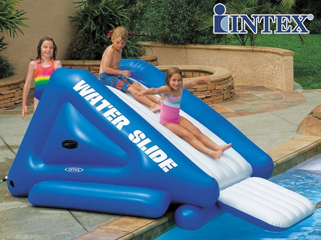 Toboggan g ant gonflable intex water slide 302cm pour for Prix piscine gonflable