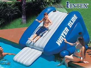Toboggan g ant gonflable intex water slide 302cm pour for Toboggan piscine adulte
