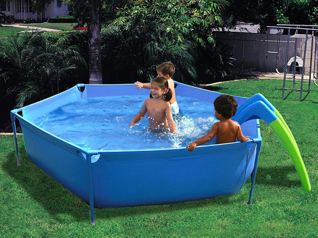 piscine hors sol enfant toi toboggan ronde 2 3 x sur march. Black Bedroom Furniture Sets. Home Design Ideas