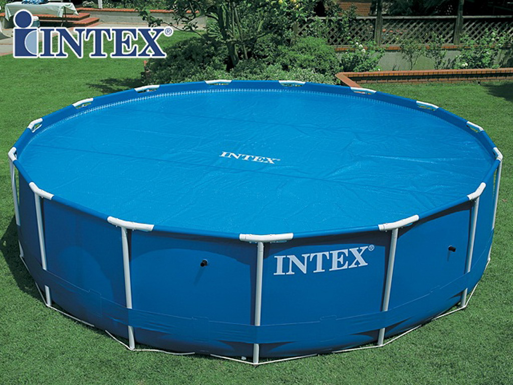 couverture solaire d 39 t intex bulles 538cm pour piscine. Black Bedroom Furniture Sets. Home Design Ideas