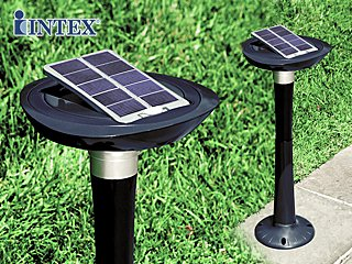 Lumi re de jardin autonome intex led avec panneau solaire inclinable sur march - Lumiere jardin exterieur ...