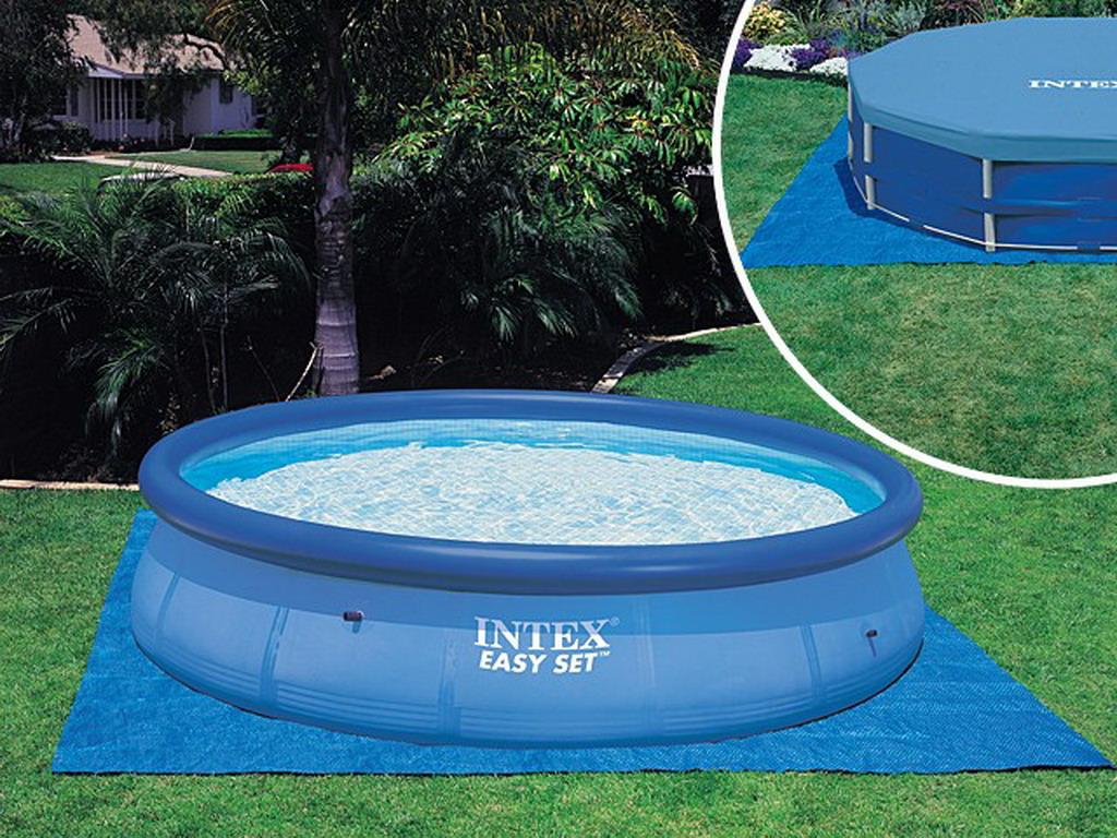 Tapis de sol intex dalle 472 x 472cm pour piscine hors sol jusqu 39 457cm sur march - Tapis de sol piscine intex ...