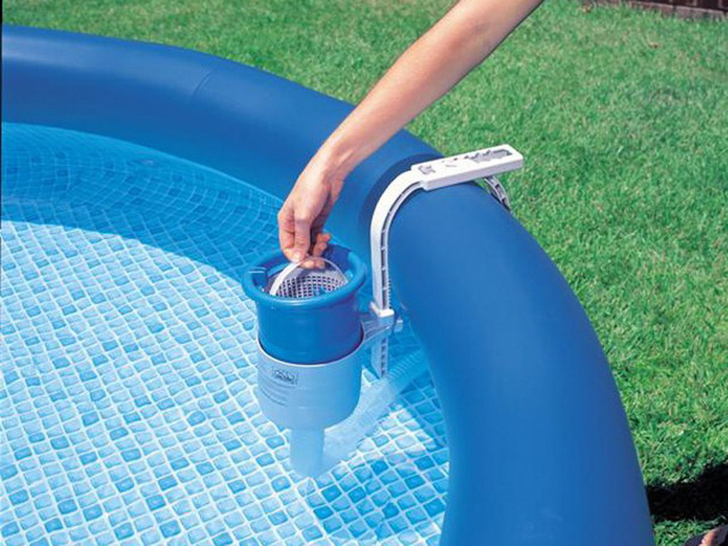 Skimmer de surface flottant intex deluxe pour piscine hors for Filtre skimmer piscine