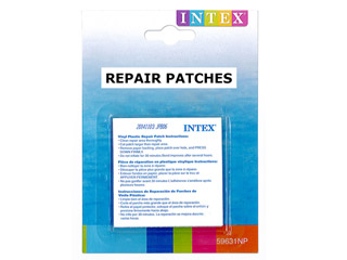 kit de r paration intex repair patch lot de 6 feuilles 49cm sur march. Black Bedroom Furniture Sets. Home Design Ideas