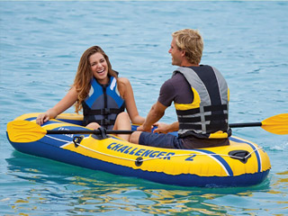 Intex - Bateau gonflable Intex CHALLENGER 2 dimensions 236 x 114 x 61cm capacite 2 personnes