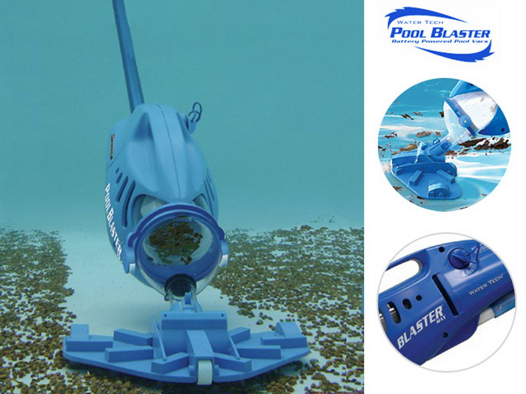 Aspirateur lectrique water tech pool blaster max cg pour for Aspirateur piscine hors sol video