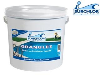 Traitement chlore choc surchlor granul s seau de 5kg sur for Piscine verte traitement choc