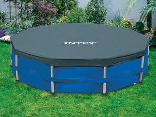 couverture de protection intex cover ronde pour piscine hors sol tubulaire 366cm sur. Black Bedroom Furniture Sets. Home Design Ideas